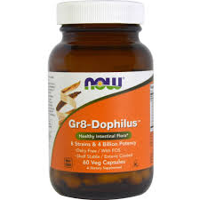 Пробиотики, <b>Gr8</b>-<b>Dophilus</b>, Now Foods, 4 млрд КОЕ, <b>60 капсул</b> - в ...