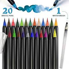 Amazon.com: PuTwo <b>Watercolor</b> Brush Pens <b>20 Colors</b> Calligraphy ...