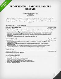 consruction laborer resume professional experience resume example