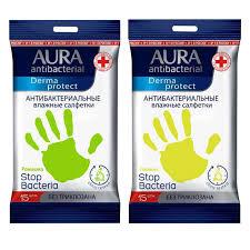 <b>Салфетки влажные Aura Derma</b> Protect pocket-pack , 15шт ...