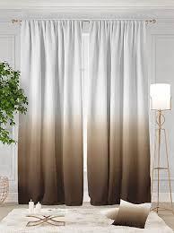 Купить <b>комплект штор</b> «<b>Витти</b> (коричневый)» белый, коричневый ...