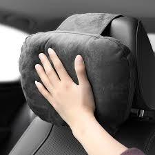 Car Suede S-Class <b>Headrest</b> Car Neck <b>Pillow</b> Back <b>Pillow Creative</b> ...
