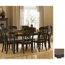 designs sedona table top base: homelegance ohana cherry antique black rectangular dining table