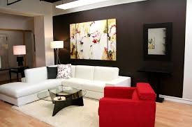 modern furniture living room design with white l shape fabric sectional sofa and round glass top astounding red leather couch furniture