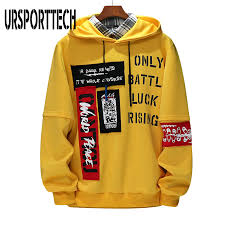 <b>URSPORTTECH Brand</b> New Men Hoodies Sweatshirts Men Letter ...