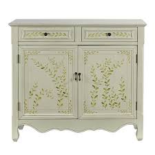 Benjara Wooden <b>Hand Painted Console Table</b> with 2 Doors and 2 ...