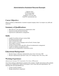 worker resume samples  x sample  seangarrette co  entry level administrative assistant resume sample  x