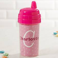 <b>Personalized</b> Pink <b>Sippy</b> Cup - Just Me Design - Baby Gifts
