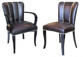 12 french art deco dining chairs and two arm chairs en suite art deco dining furniture