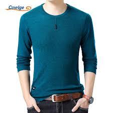 2019 <b>Covrlge 2018</b> Spring <b>New Men</b> Sweater Fashion O Neck Slim ...