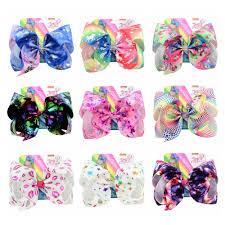 "1piece <b>8</b>"" <b>JoJo Siwa Bows</b> Colorful Gradient Rainbow Print ..."