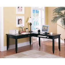 the benefits of l shaped home office desks simple home office furniture of black chic shaped home office