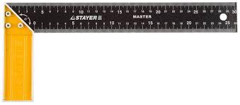 """Угольник <b>STAYER</b> """"<b>MASTER</b>"""" столярный, стальное <b>полотно</b> ..."""