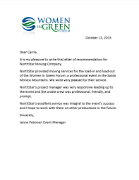 recommendation letter archives women in green forum