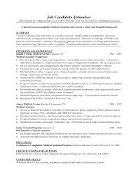examples of a medical assistant resumes template examples of a medical assistant resumes