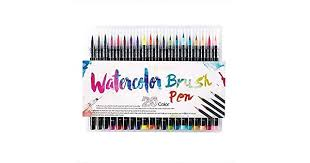 <b>20</b> Pieces <b>Color</b> Brush Pens Set <b>Watercolor</b> Brush Pen <b>Color</b> ...