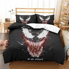 Marvel <b>Venom</b> 3D <b>Bedding Set</b> Kids Room Decor Duvet Covers ...