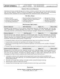 hotel general manager resume sample cipanewsletter resume general manager restaurant u2013 bgmr