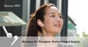 Baseus W07 Bluetooth <b>Earphone TWS Wireless</b> Bluetooth ...