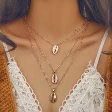 X139 <b>New</b> Bohemia <b>Shell Pendant</b> Chian Necklace For Women ...