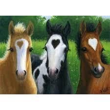 "<b>Full Square/Round Drill 5D</b> DIY Diamond Painting ""Three horses ..."