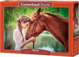 <b>Пазл</b> Castorland Девушка и лошадь 500 элементов B-52516 ...