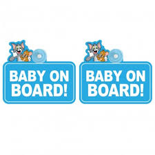 <b>Tom</b> & <b>Jerry</b> - Baby On Board (Pack of 2)