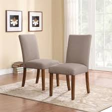 dining table parson chairs interior: dorel living dorel living linen parsons chairs  pack taupe dark pine