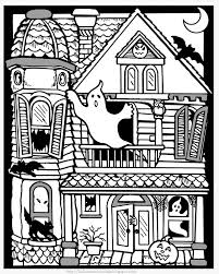 Small Picture Haunted House To Print And Color With Big Pumpkins From The