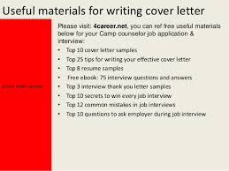 camp counselor cover lettercover letter sample yours sincerely mark dixon