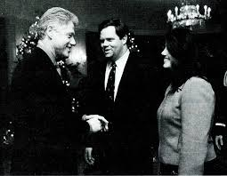monica was always using steward nel as one of the people she needed to see and bill clinton oval office