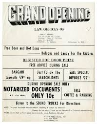 flyer announcing the grand opening of the law offices of john j flyer announcing the grand opening of the law offices of john j herrera the portal to texas history