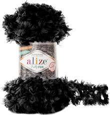 <b>Пряжа Alize Puffy Fur</b>, 7728472_6101, 100 г, 6 м, 5 шт