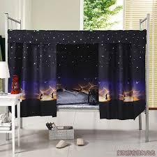 <b>Single</b> Sleeper Bunk <b>Bed Curtain</b> Student <b>Dormitory</b> Blackout Cloth ...