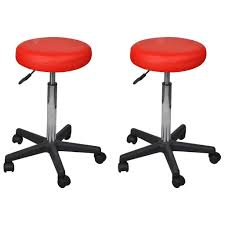<b>Office Stools 2 pcs</b> Red 35.5x98 cm Faux Leather Sale, Price ...