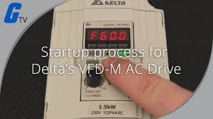 Startup Process on Delta's <b>VFD</b>-M Series <b>AC Drive</b> - YouTube