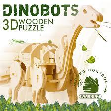Robotime <b>DIY</b> Звуковое управление Электрический динозавр 3D ...