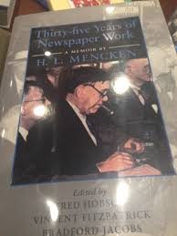 the literary archive h l mencken edited by fred hobson vincent fitzpatrick bradford mce jacobs baltimore johns hopkins university press copy1994 cover