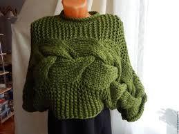 Кофты и свитера ручной работы. <b>джемпер</b> бутылочного цвета ...