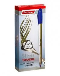 <b>Ручка шариковая Berlingo Silver</b> Triangle 1,0 мм синяя ...