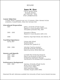 breakupus splendid resumes national association for music education nafme with exquisite sample resume with cute operations manager resume examples also job job specific resume templates