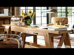 pottery barns bench style office desk rustic look and modern design build rustic office desk