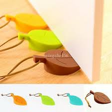 <b>1Pc</b> Novelty Anti-Pinch Stopper Leaves <b>Silicone Rubber</b> Door Stop ...
