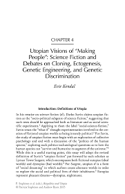 utopian visions of making people science fiction and debates on inside