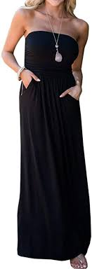 Chuanqi <b>Womens</b> Summer <b>Strapless</b> Maxi <b>Dresses Off</b> The ...