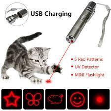 <b>Multi</b>-<b>pattern</b> Pet Cat Kitten Toy USB Laser Pointer LED Light Pen ...