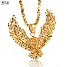 <b>ZFVB</b> Vintage Animal Eagle <b>Pendant Necklaces</b> for Mens Statement ...