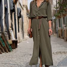 <b>Women</b> Sexy Long Shirt <b>Dress Office Lady</b> Casual Work Elegant ...
