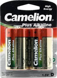 <b>Батарейка D</b> щелочная <b>Camelion</b> MN1300-2 1.5V 2 шт