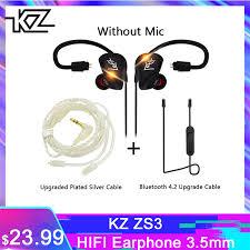 <b>KZ ZS3</b> HIFI Earphone 3.5mm <b>In ear</b> Dynamic Drive Bass Stereo DIY ...